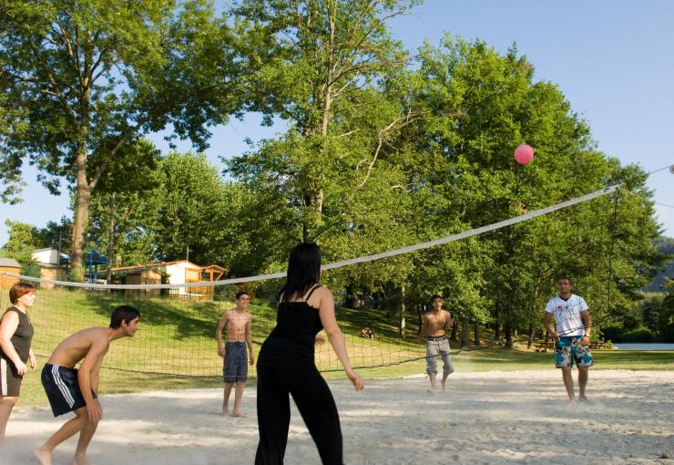 beach volley au camping du lac